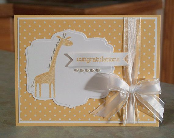 New Baby Congratulations Card - Stampin Up Zoo Babies
