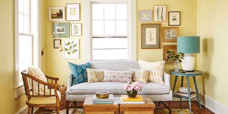 Simple Living Room Design with charming simple whitw sofa