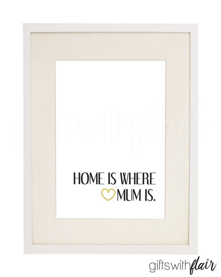 Gifts with Flair Decor Print | Mothers Day print printable for instant download | Home is where Mum is | Australian-Owned Business
