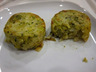 Make them yourself (from IKEA), 4 potatoes grated, 1 cup of swiss cheese grated, 4 onions chopped, 1/2 cup broccoli pieces, 1 1/2 cups heavy cream, salt and pepper. see  http://www.food.com/recipe/potato-and-broccoli-medallions-421635
