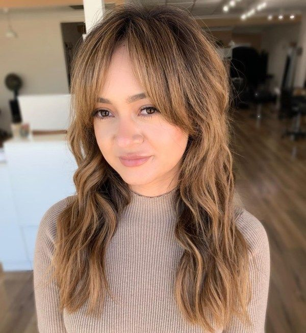 32++ Middle part with side bangs inspirations