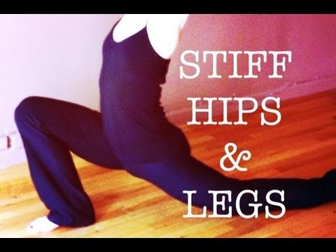 EASY YOGA STRETCHES for STIFF HIPS & LEGS | 11 minute real-time routine