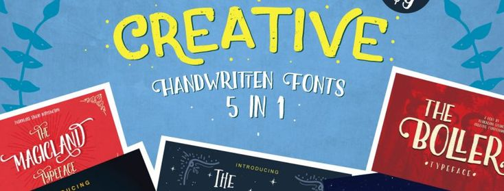 Brand New: Creative Handwritten Fonts