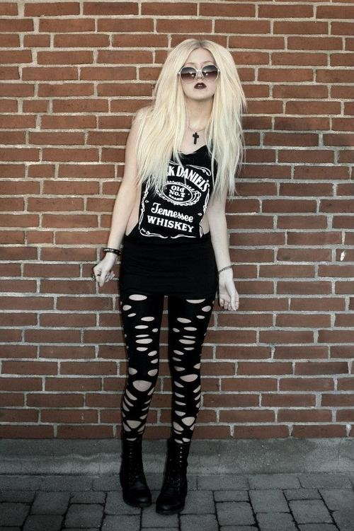 Punk girl.   I know that I have this one... but,she's a hot blond.