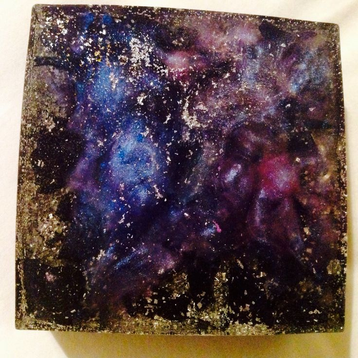 """""""Space Cube"""" orgone generator inspired by nebulas, available soon at pocketorgonite.com"""