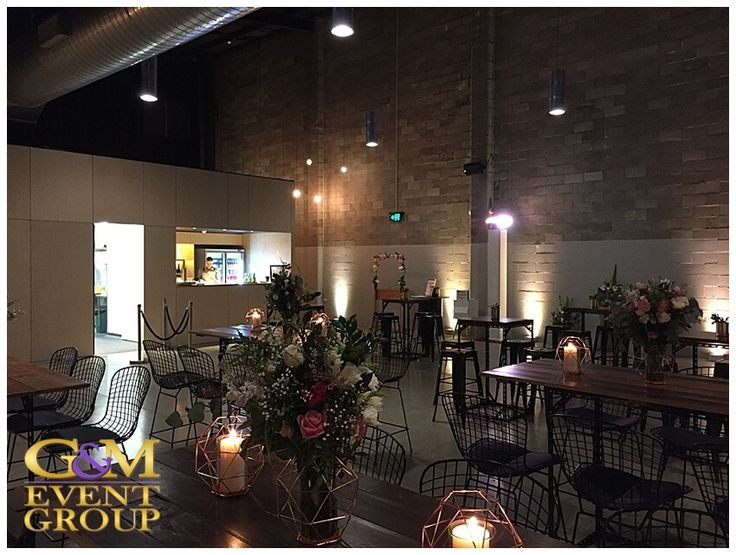 Kasey & James' wedding @ the Joinery West End - Wedding DJ + MC + Lighting | Warm White Uplighting #warehousewedding #uplighting #weddinglighting #custommonogram #weddingdj #weddingmc #gmeventgroup