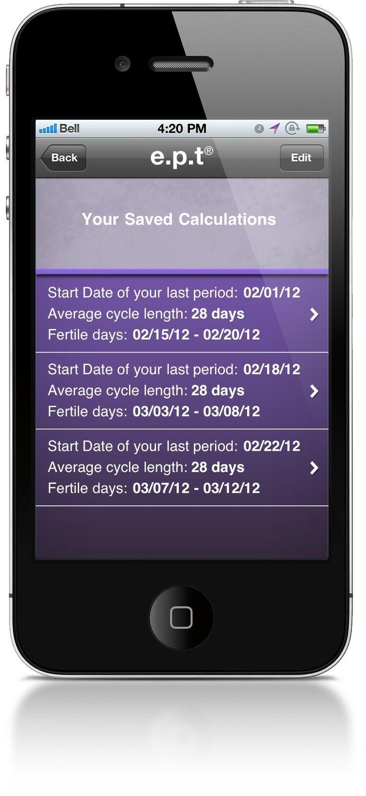 e.p.t Ovulation Calculator – saved calculations – e.p.t Ovulation Calculator M …   – Pregnancy Calculator