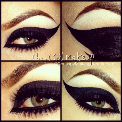 Makeup by Chrisspy: Dramatic Black, Cat Woman, Black Mua, Dramatic Eyeliner, Cat Women, Cat Eye Makeup, Eye Liner, Dramatic Cat, Black Cat