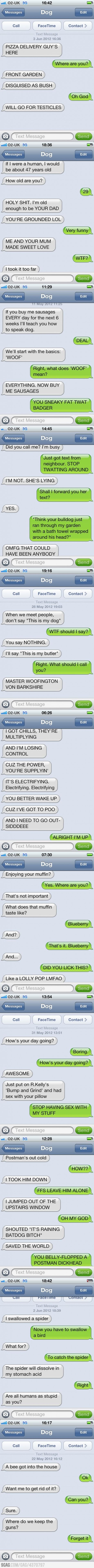 Texts from dogs.. i cried cause i was laughing so hard:)