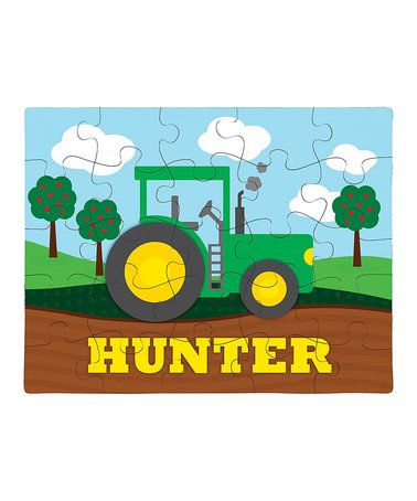 This Tractor Personalized Puzzle is perfect! #zulilyfinds