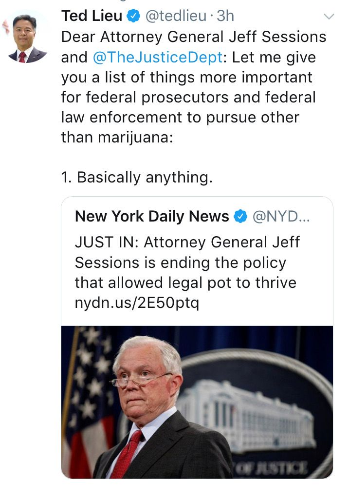 How's he gonna justify keeping black and brown folk in prison if what they were incarcerated for en masse is suddenly legal? With his attitude, that's enough of a reason but I'm willing to bet his private prison buddies are fit to be tied. They only get paid by how many butts are in beds.
