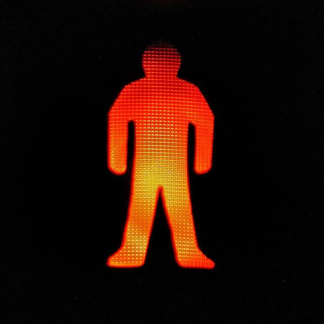 LISBON :: pedestrian sign > red by Crystian Cruz, via Flickr