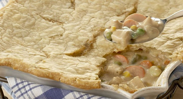 Turkey Pot Pie --- This family favorite is a delicious way to use leftover turkey from the holiday bird or leftover roasted or rotisserie chicken.