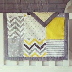 Patchwork blanket grey yellow #patchworkblanket #cotblanket #custom #handcrafted #grey #polkadot #chevron #filagree #stripes #nursery #baby #warm #blanket #moocachoo #yellow