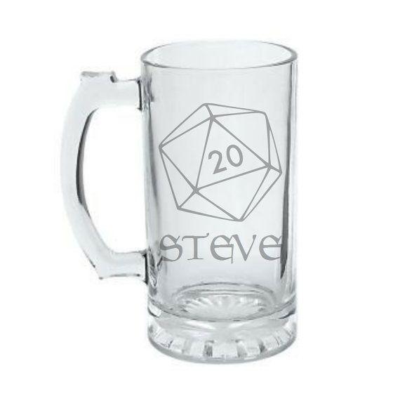 Personalized 20 Sided Dice Mug  D20 Mug  Custom by GeekyGlassed