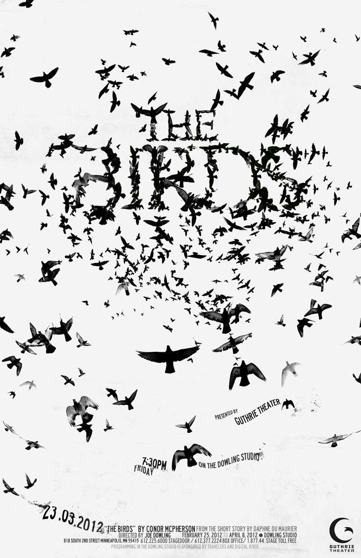 The Birds movie poster by Kyle Kim