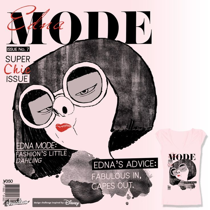 Edna Mode Issue by ryeofcali on Threadless