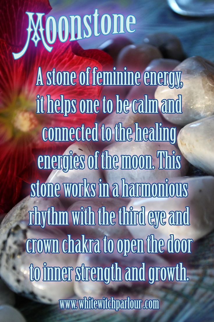 Moonstone gemstone feminine energy healing full moon