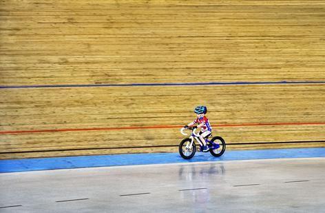 Baanwielrennen, Training Jeugd Alcmaria Victrix, Alkmaar. Rookie