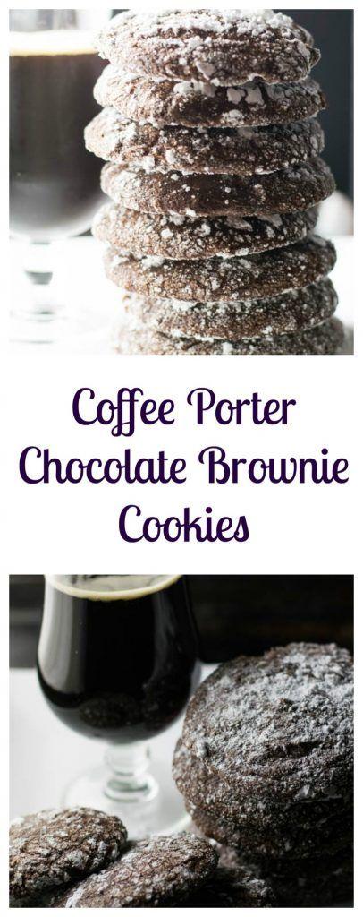 Coffee Porter Chocolate Brownie Cookies combines favorite treats of chocolate, brownies, and cookies with a delicious coffee porter perfect for the holidays | Beer Girl Cooks