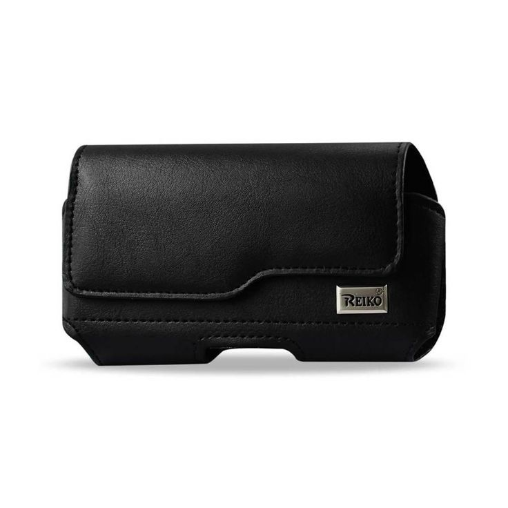 Reiko Horizontal Z Lid Leather Pouch Iphone 6/6S Plus 5.5Inch Plus Black Inner Size-6.62X3.46X0.68Inch
