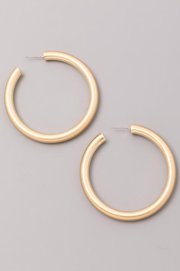 14k gold fill hoop earring Gold hoop earrings Tribal heart earring
