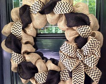 Black and Natural Quatrafoil Moroccan Burlap by SimplyBlessedGift