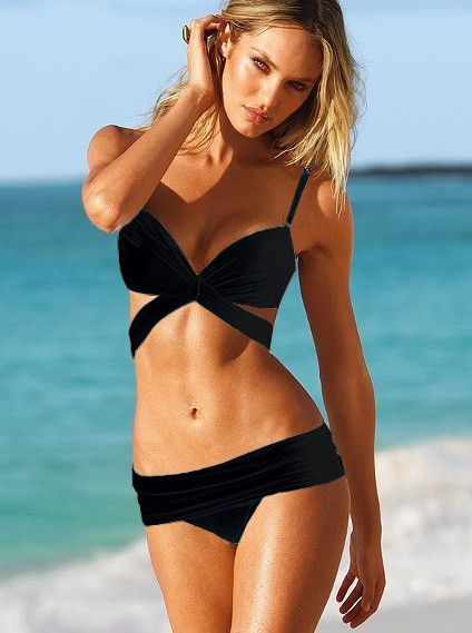 Sex Swimsuit 2013 Twisted Wrap Bikini Black [Swimwear 173] - $28.76 : More and More Cheap Shoes Sale Online,Welcome To Buy New Shoes 2013