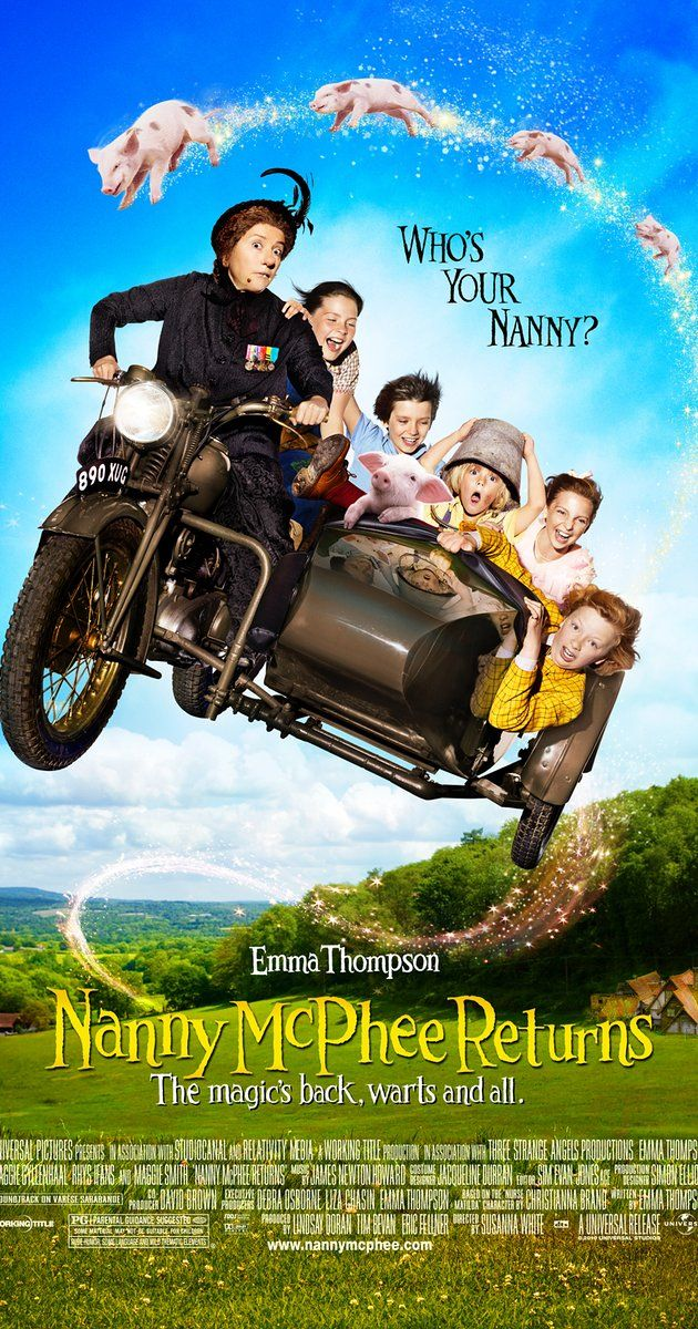 Directed by Susanna White. With Emma Thompson, Maggie Gyllenhaal, Ralph Fiennes, Oscar Steer. Nanny McPhee arrives to help a harried young mother who is trying to run the family farm while her husband is away at war, though she uses her magic to teach the woman's children and their two spoiled cousins five new lessons.
