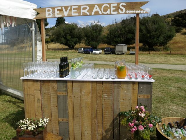 Keeping it rustic with an outdoor bar.