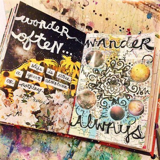 """WONDER OFTEN...WANDER ALWAYS."" ""Life is either a great adventure or nothing."" - Helen Keller {Jenndalyn Art}"