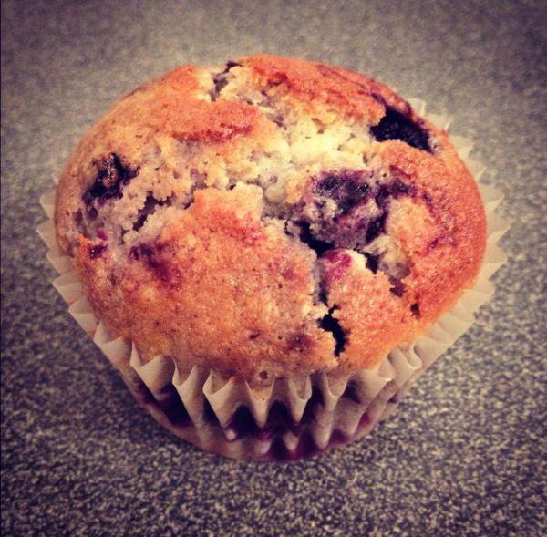 Muffins myrtille / chocolat blanc