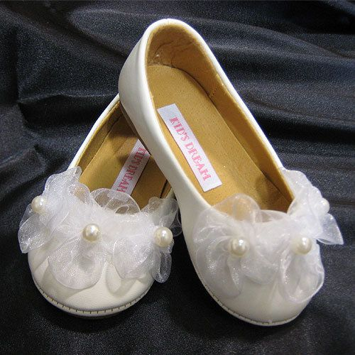 3 Pearl Toddlers Ballerina slippers KBS003-BABY $22.95 on www.GirlsDressLine.Com