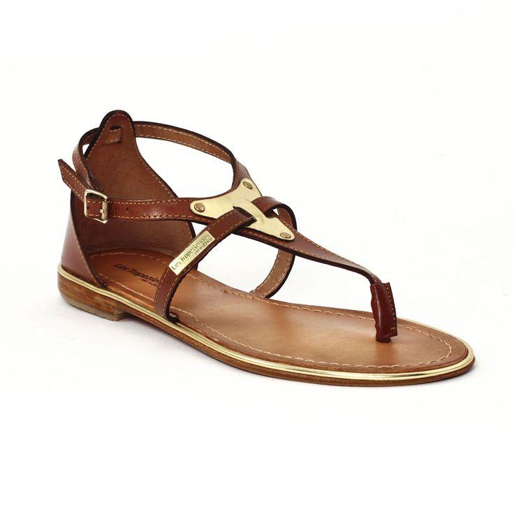 Les Tropeziennes Hanae Marron Or   sandales marron or printemps été chez TROIS PAR 3 59€98