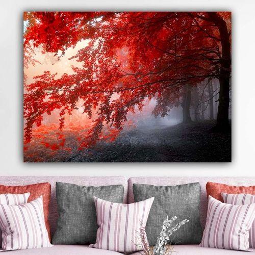Red Forest πίνακας σε καμβά