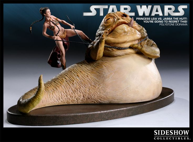 Sideshow Collectibles - 'You're Going to Regret This' - Princess Leia vs Jabba the Hutt Polystone Diorama