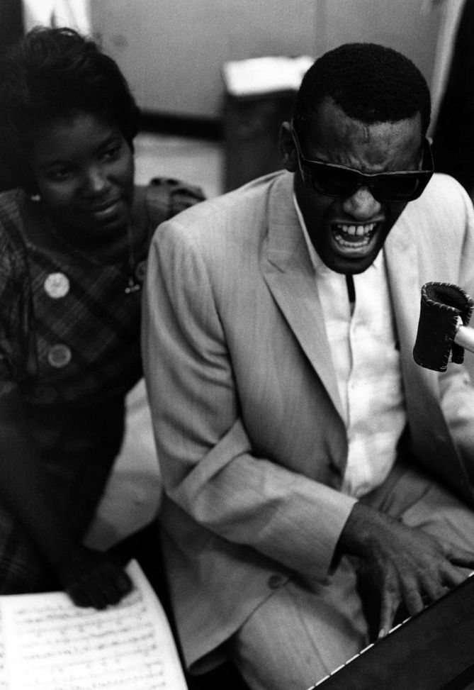 Ray Charles with a raylette, 1962 by William Claxton