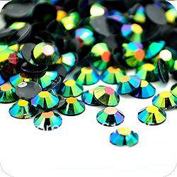 5 мм Jelly Изумруд AB Цвет SS20 кристалл Смола стразами flatback, Nail Art Стразы, 30,000 шт./пакет