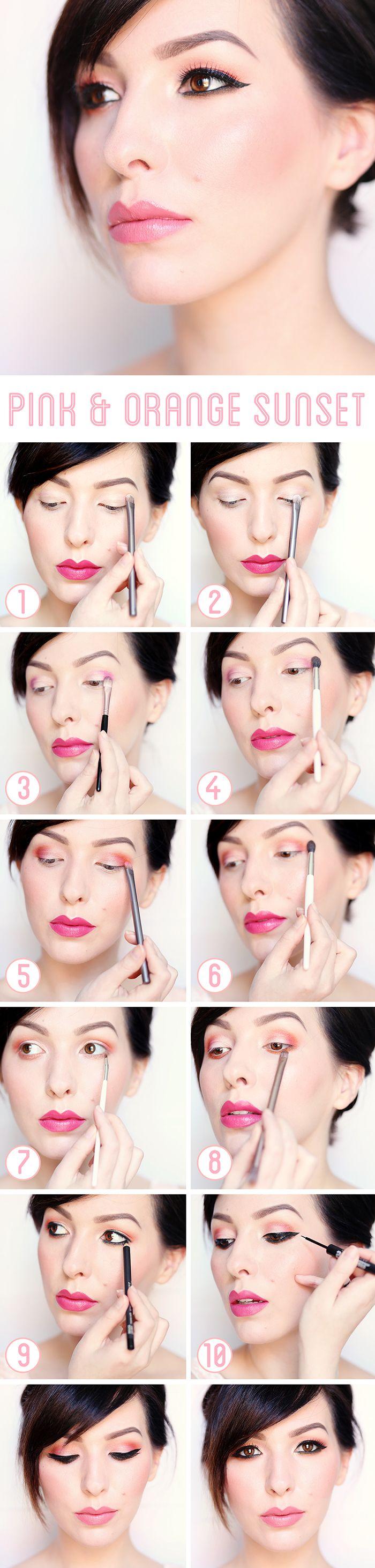 Makeup Monday: Pink and Orange Sunset Tutorial - Keiko Lynn