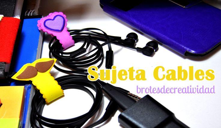DIY : Manten Tus Cables Recogidos Con Estos Sujeta Cables De Goma Eva - ...