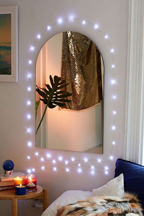 $24 BUY NOW Adding string lights around a wall or vanity mirror adds extra light while getting ready.