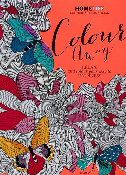 Relaxing colouring-in books for adults