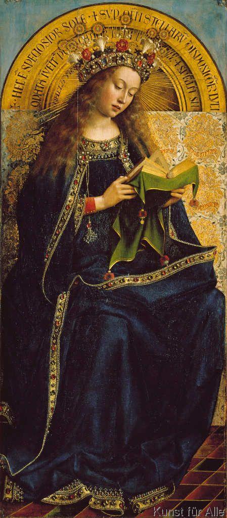 Jan Van Eyck - Maria als Himmelskönigin                                                                                                                                                                                 Mehr