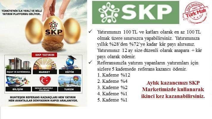 Türkiye'nin ilk ve tek YATIRIM ve BEDAVA ALIŞVERİŞ platformu