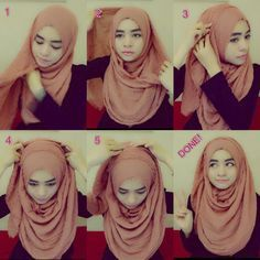 arab hijab tutorial, doing it in the other direction may also work