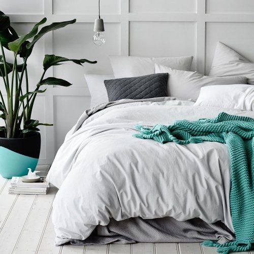Home Republic European Collection Stonewash Silver - Bedroom Quilt Covers & Coverlets - Adairs online