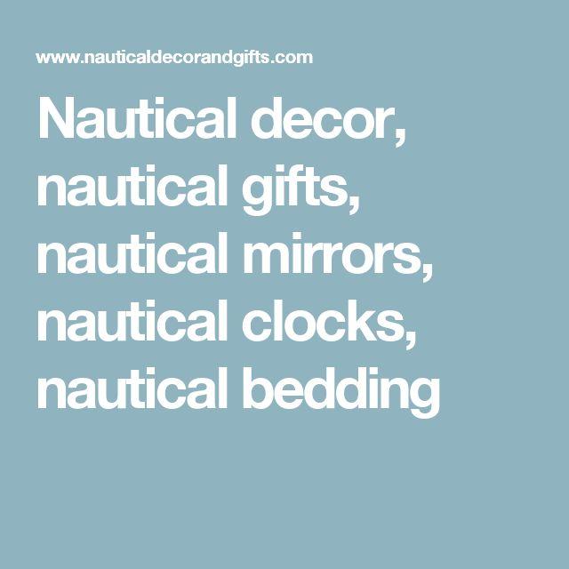 Nautical decor, nautical gifts, nautical mirrors, nautical clocks, nautical bedding