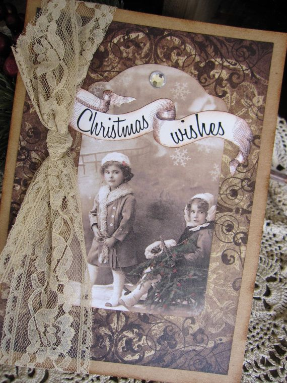 Christmas Card Handmade Card Christmas by KathleenRobinaugh, $5.00