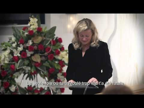 """""""What if you were invited to your own funeral?"""" Speeding can lead to fatal accidents. Slow down. Drive carefully. Video is in French, but it has English subtitles."""
