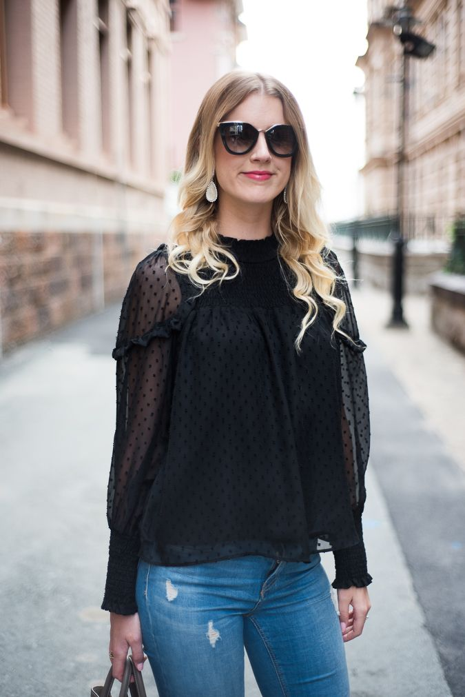 How to Style a Statement Blouse- Polka Dots and Ruffles